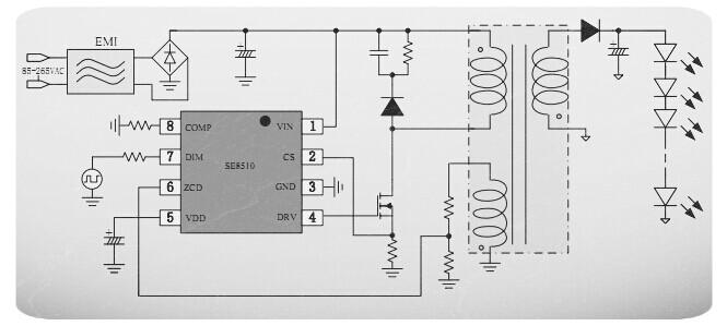 可调光led驱动芯片,,可控硅调光 led驱动,,可控硅调光